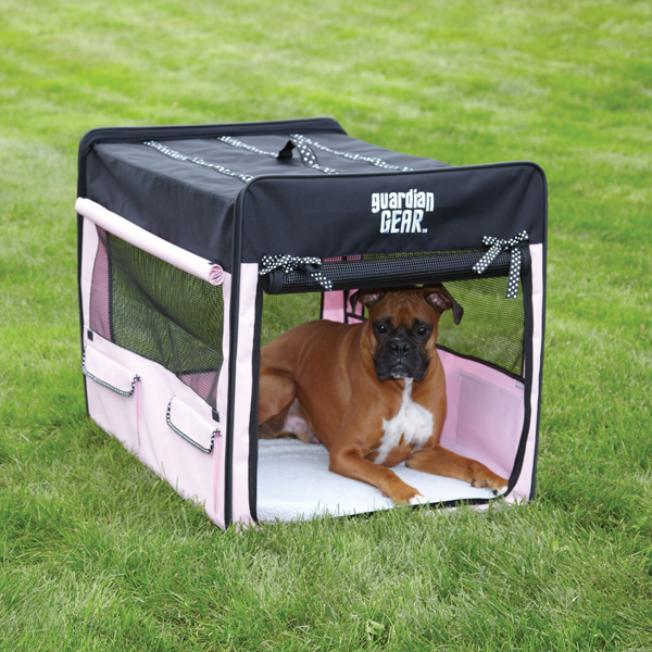 Guardian Gear Polka Dot Collapsible Dog Crate Soft Sided